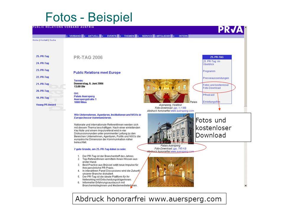 Fotos - Beispiel Abdruck honorarfrei www.auersperg.com Fotos und kostenloser Download