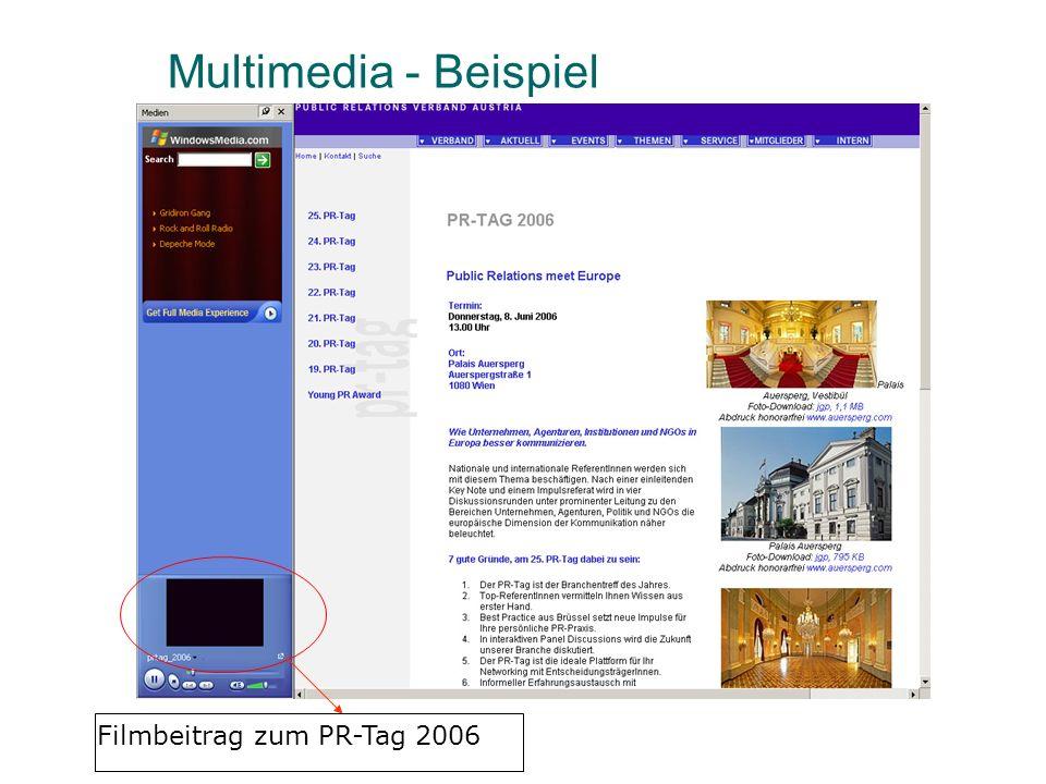 Multimedia - Beispiel Filmbeitrag zum PR-Tag 2006