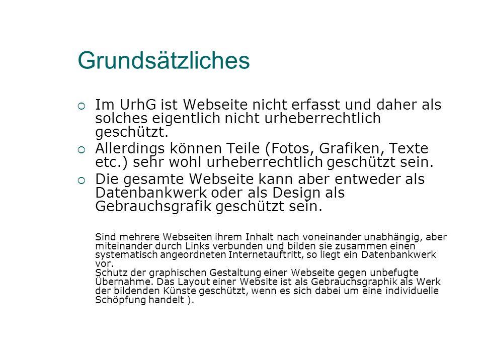 Grafiken Bei Grafiken kommt es darauf an, ob sie Werkcharakter im Sinne des Urheberrechtsgesetzes (UrhG) genießen, d.h.