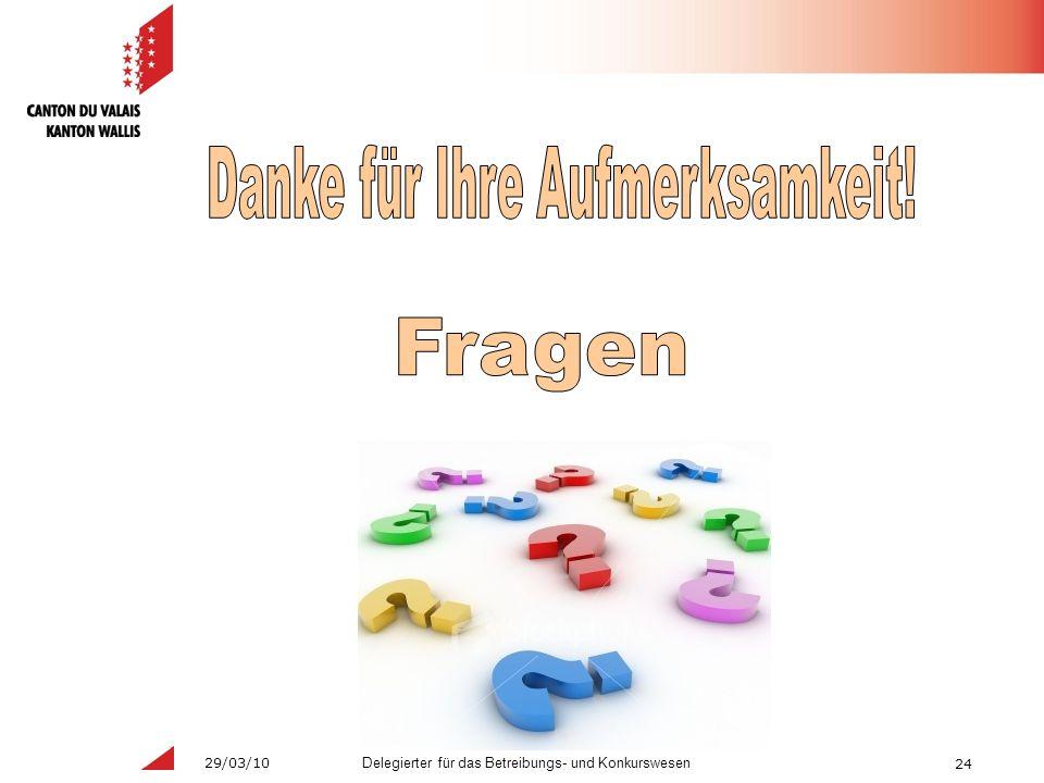 24 Delegierter für das Betreibungs- und Konkurswesen 29/03/10