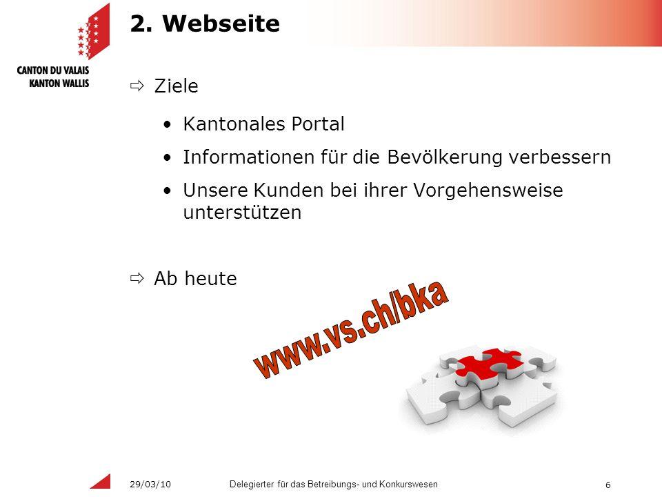6 Delegierter für das Betreibungs- und Konkurswesen 29/03/10 2.