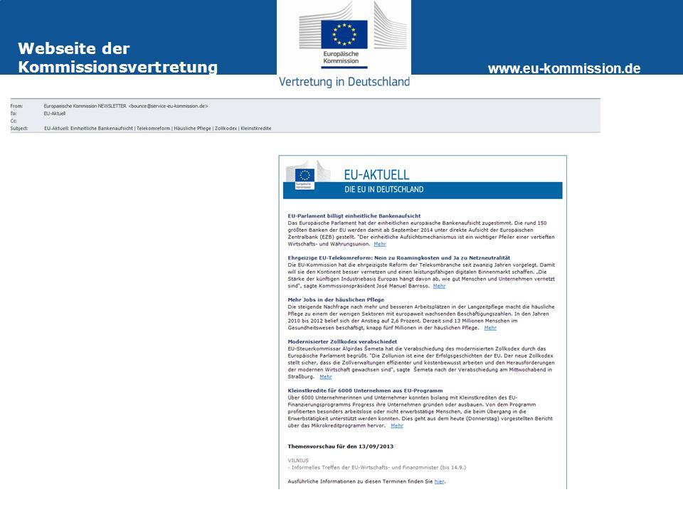 www.eu-kommission.de Webseite der Kommissionsvertretung