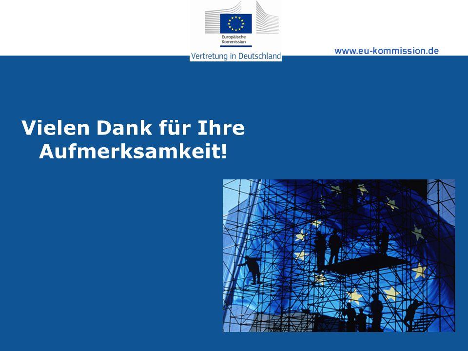 www.eu-kommission.de Vielen Dank für Ihre Aufmerksamkeit!