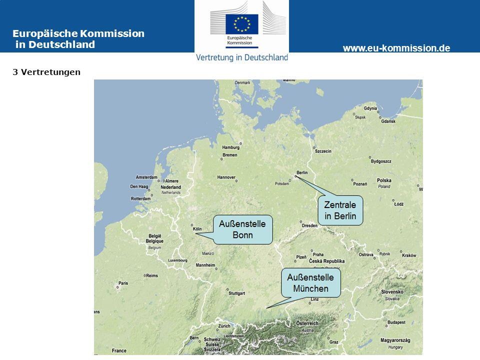 www.eu-kommission.de Informationsquellen für Journalisten Europa-Webseite Ansprechpartner in Brüssel Angebote der Vertretung