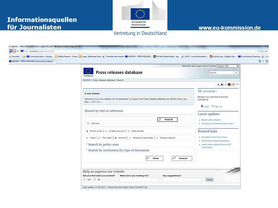www.eu-kommission.de Webseite der Kommissionsvertretung http://www.eu-kommission.de Die Website der Kommissionsvertretung