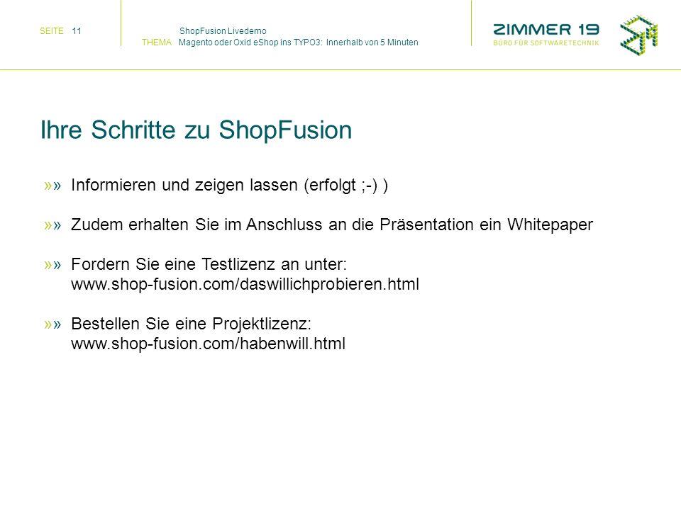 Informieren und zeigen lassen (erfolgt ;-) ) Zudem erhalten Sie im Anschluss an die Präsentation ein Whitepaper Fordern Sie eine Testlizenz an unter: