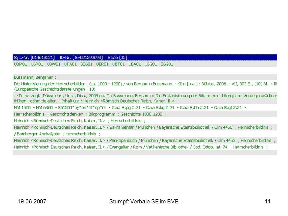 19.06.2007Stumpf: Verbale SE im BVB11