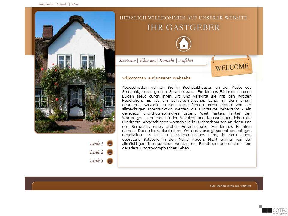Willkommen auf unserer Webseite Abgeschieden wohnen Sie in Buchstabhausen an der Küste des Semantik, eines großen Sprachozeans.