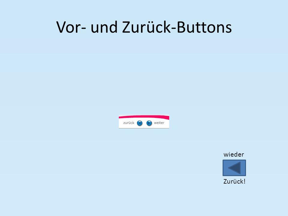 Vor- und Zurück-Buttons wieder Zurück!