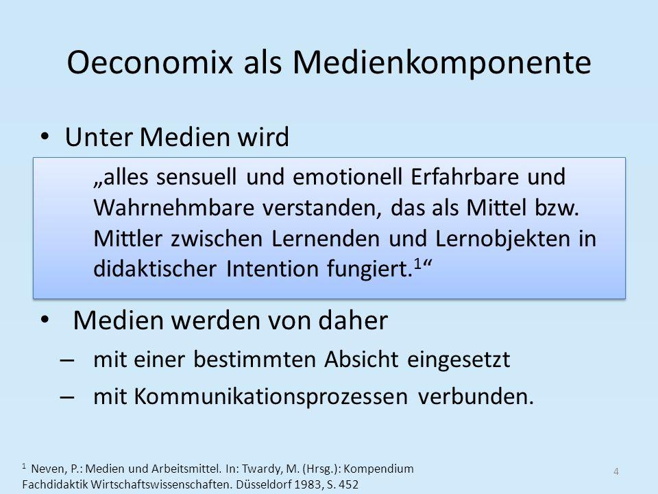 Oeconomix als Medienkomponente Unter Medien wird 4 1 Neven, P.: Medien und Arbeitsmittel.