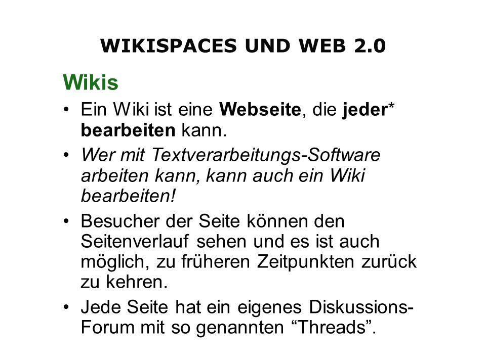 Wikis Ein Wiki ist eine Webseite, die jeder* bearbeiten kann. Wer mit Textverarbeitungs-Software arbeiten kann, kann auch ein Wiki bearbeiten! Besuche