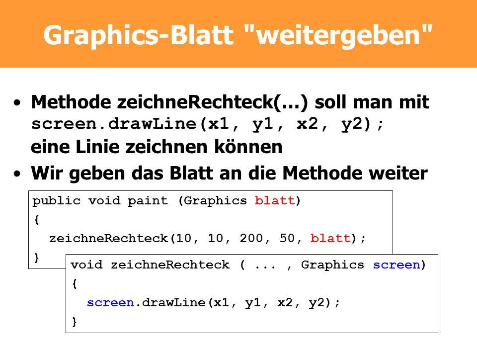 Graphics-Blatt