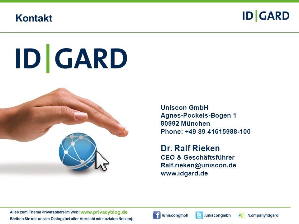 33Copyright Uniscon GmbH 201333 Kontakt Uniscon GmbH Agnes-Pockels-Bogen 1 80992 München Phone: +49 89 41615988-100 Dr. Ralf Rieken CEO & Geschäftsfüh