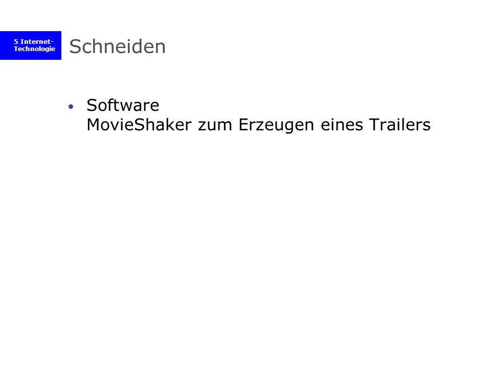 5 Internet- Technologie Schneiden Software MovieShaker zum Erzeugen eines Trailers