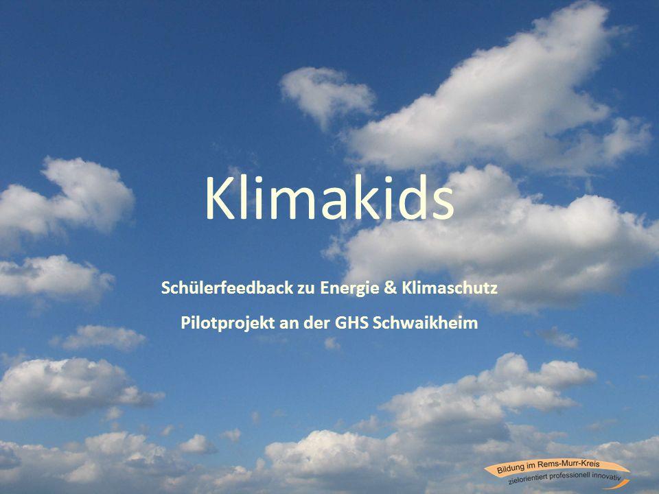 Klimakids Schülerfeedback zu Energie & Klimaschutz Pilotprojekt an der GHS Schwaikheim