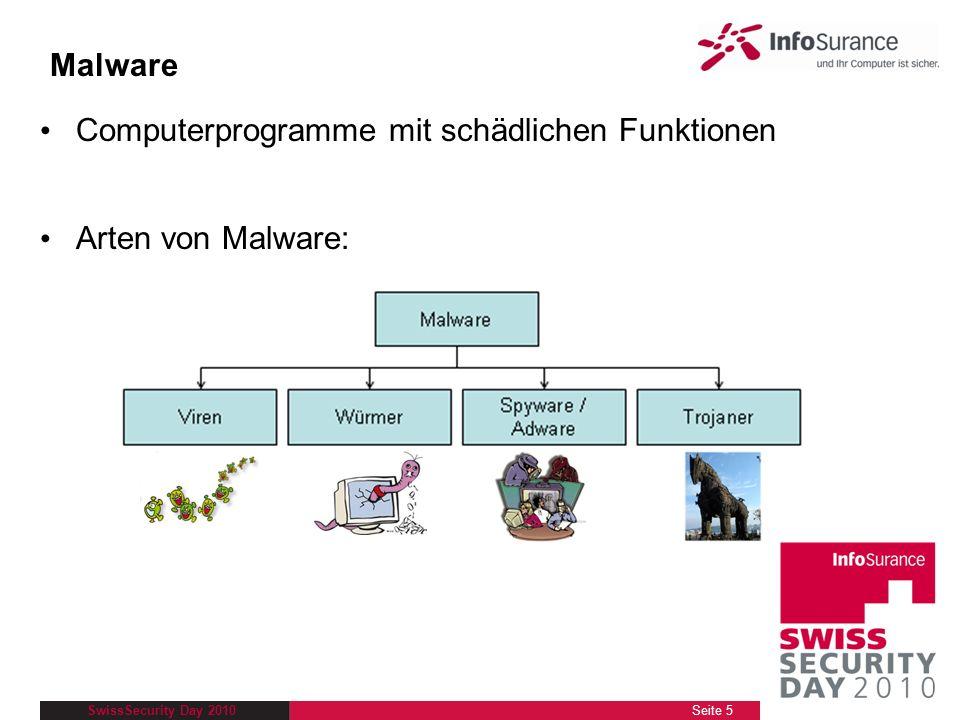 SwissSecurity Day 2010 Viren und Würmer Viren und Würmer… sind Programme, die z.B.