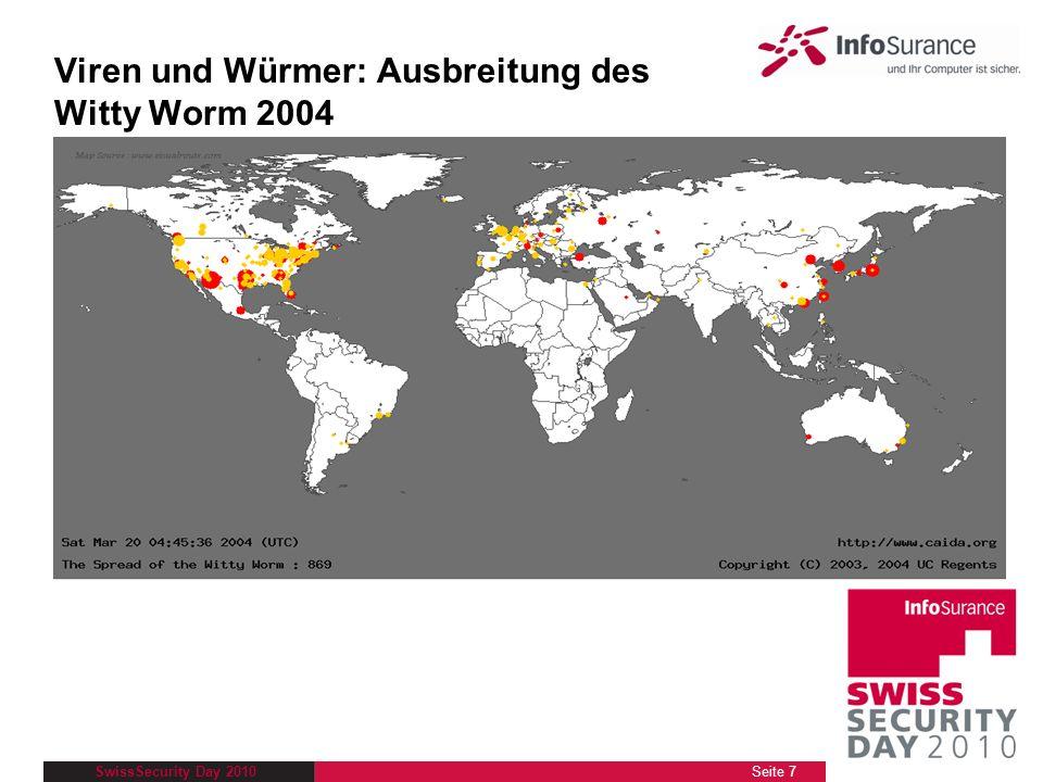 SwissSecurity Day 2010 Schritt 3: ÜBERWACHEN Aktivieren Sie die Windows-Firewall unter Start / Systemsteuerung / Sicherheitscenter Entfernen Sie unter dem Register Ausnahmen die Markierung bei jedem Programm, welches für den täglichen Gebrauch keinen Internetzugang benötigt Installieren Sie eine Firewall-Gratislösung: Comodo ZoneAlarm Seite 48