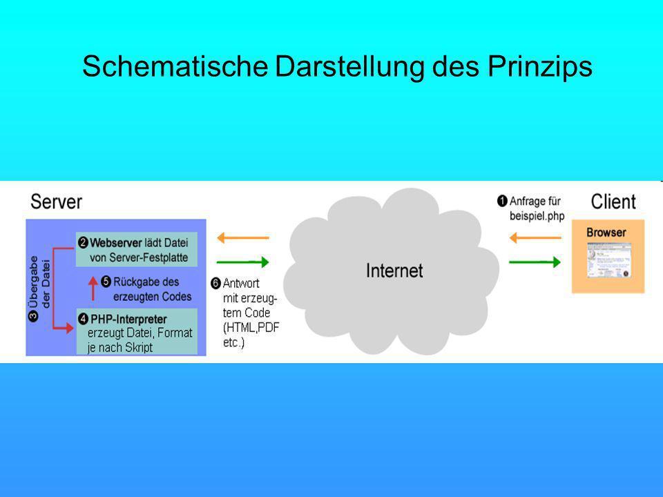 Schematische Darstellung des Prinzips