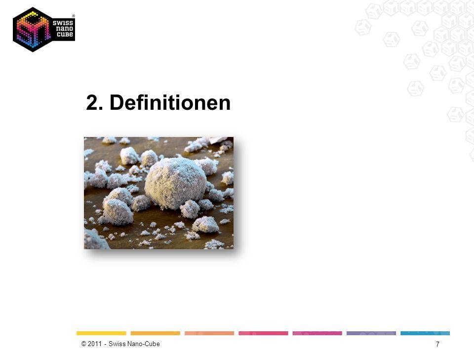 © 2011 - Swiss Nano-Cube 7 2. Definitionen
