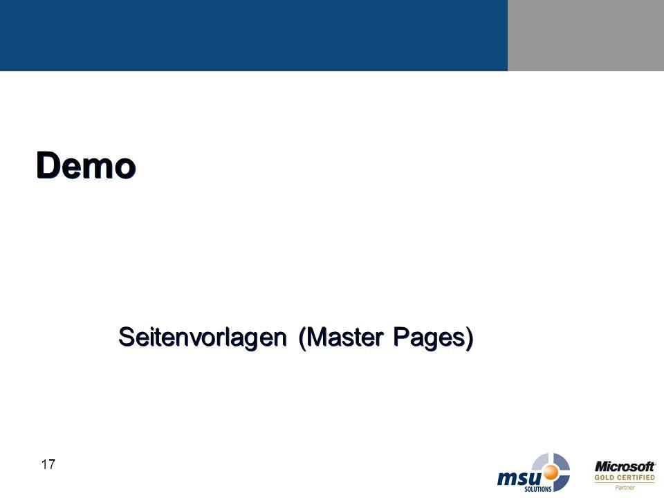 17 Demo Seitenvorlagen (Master Pages)