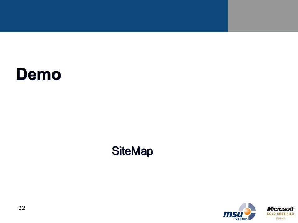 32 Demo SiteMap