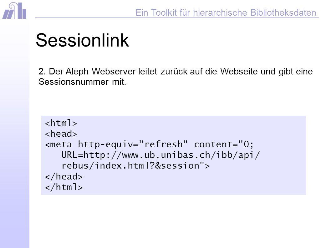 Ein Toolkit für hierarchische Bibliotheksdaten Sessionlink 2.