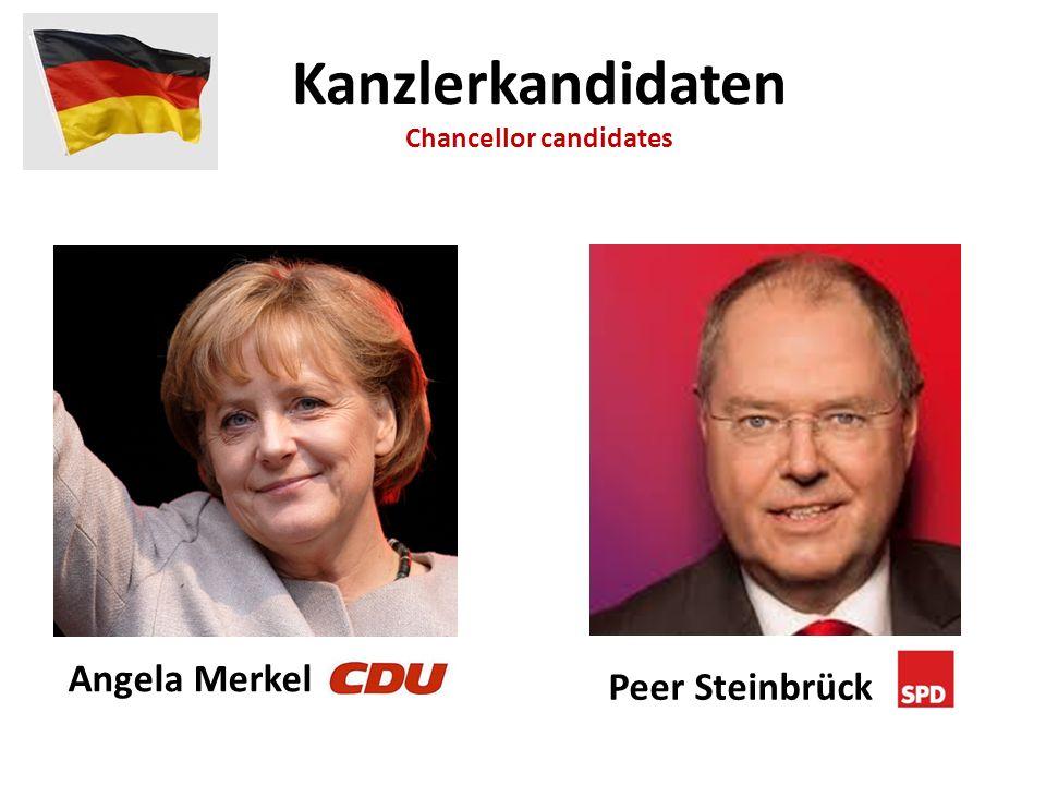 Angela Merkel Peer Steinbrück Kanzlerkandidaten Chancellor candidates