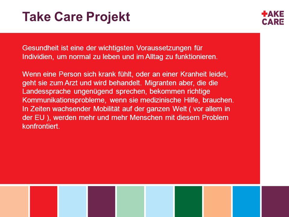 Take Care Projekt Gesundheit ist eine der wichtigsten Voraussetzungen für Individien, um normal zu leben und im Alltag zu funktionieren. Wenn eine Per