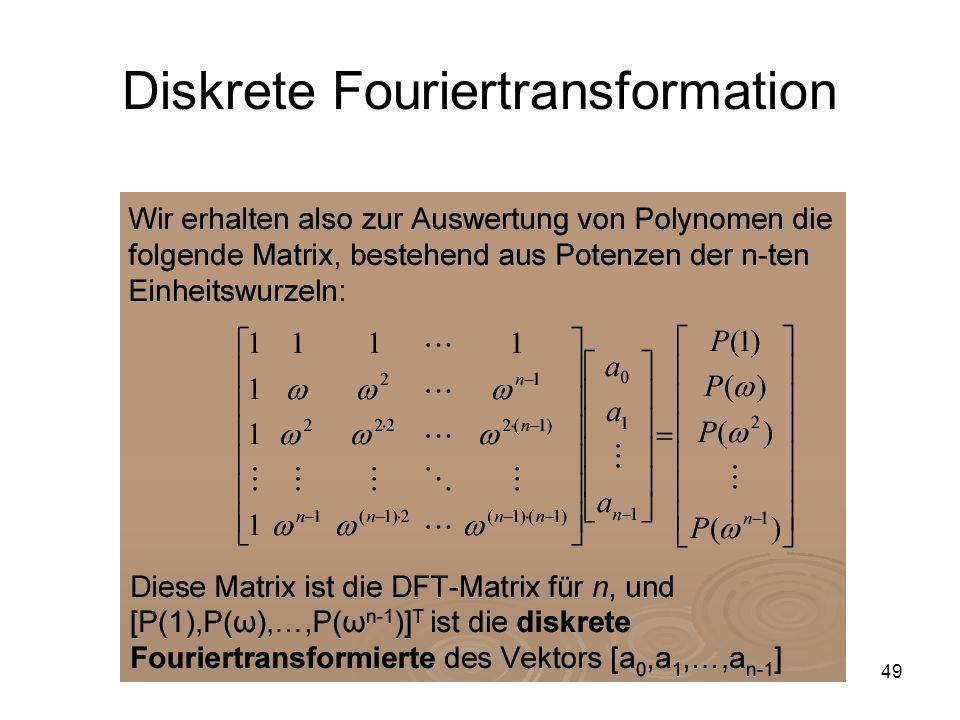 49 Diskrete Fouriertransformation