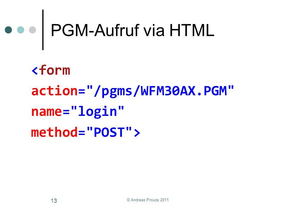 PGM-Aufruf via HTML <form action=