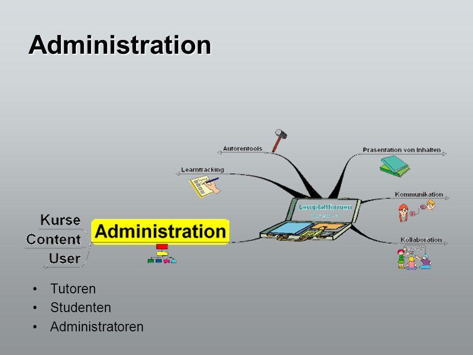 Administration Tutoren Studenten Administratoren