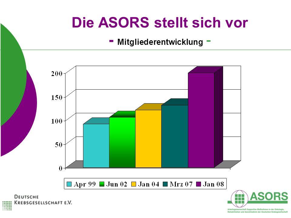 Die ASORS stellt sich vor - Mitgliederentwicklung -