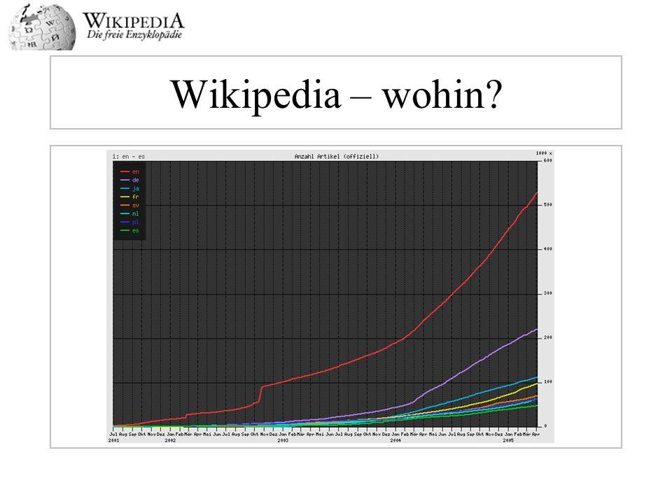Wikipedia – wohin?
