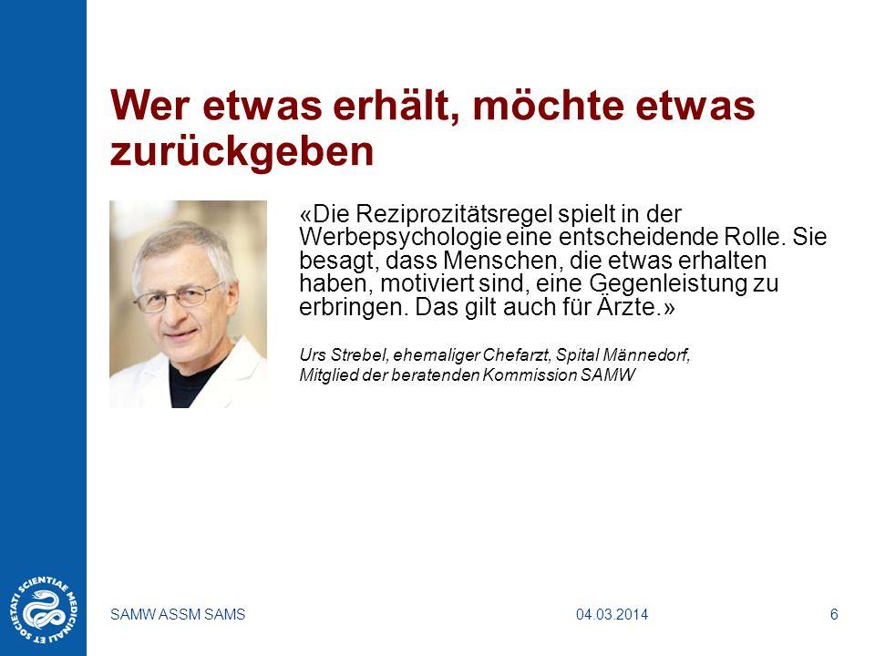 04.03.2014SAMW ASSM SAMS7 Klinische Forschung
