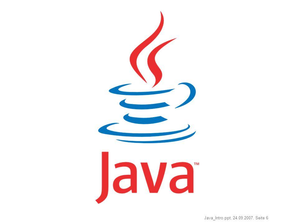 Java_Intro.ppt, 24.09.2007, Seite 6 Java-Logo