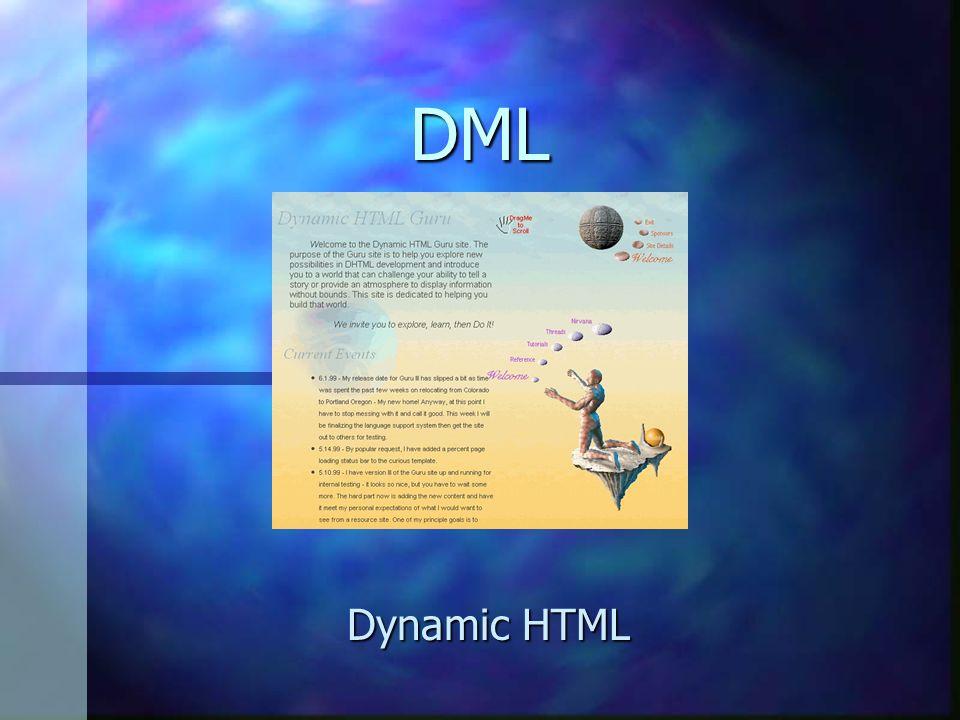 DML Dynamic HTML