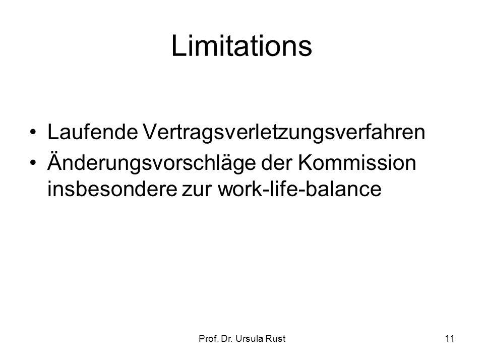 Prof. Dr. Ursula Rust10 Belästigung Art. 1 Abs.