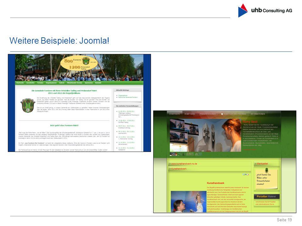 Weitere Beispiele: Joomla! Seite 19