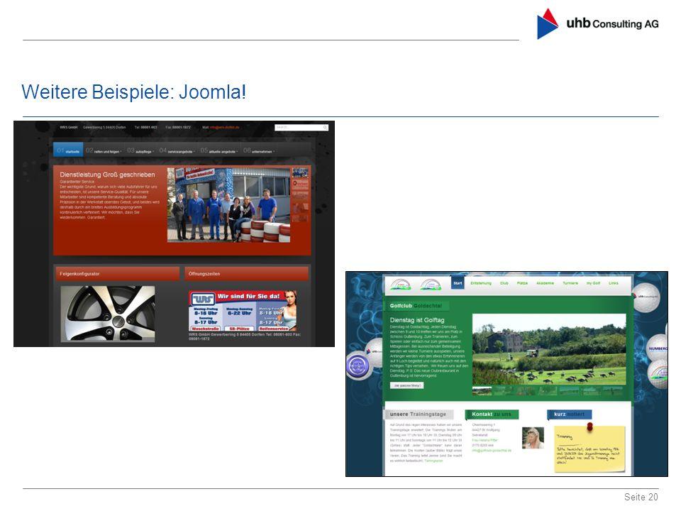 Weitere Beispiele: Joomla! Seite 20