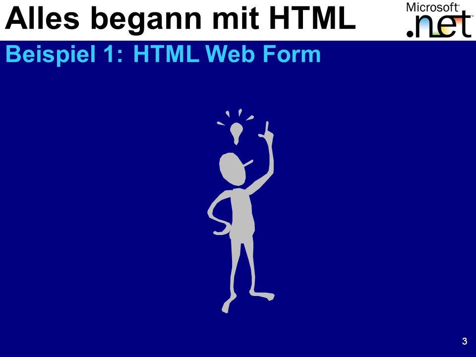 3 Alles begann mit HTML Beispiel 1: HTML Web Form