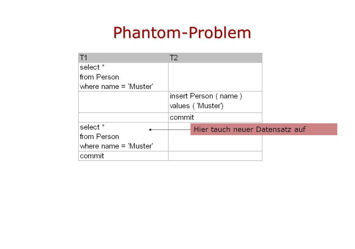 Phantom-Problem Hier tauch neuer Datensatz auf