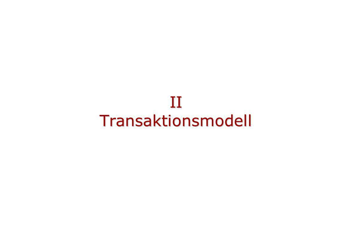 Versionen, Schreiber gegen Schreiber Datensatz X, TNC = 2 Schreibende Transaktion, TNC = 3 1 Datensatz X, TNC = 1 Schreibende Transaktion, TNC = 4 2 5 commit: ok, weil TNC 2 = max TNC im Pool Datensatz X, TNC = 2 Kopie Datensatz 4 7 commit: abort, weil TNC 2 max TNC im Pool Datensatz X, TNC = 2 Kopie Datensatz 3 Änderungsbefehl Datensatz X, TNC = 3 6