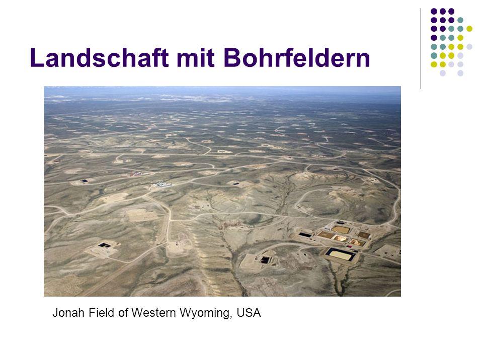 Landschaft mit Bohrfeldern Jonah Field of Western Wyoming, USA