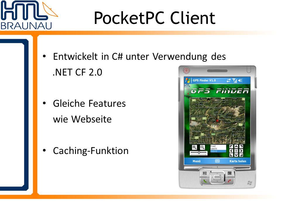 PocketPC Client Entwickelt in C# unter Verwendung des.NET CF 2.0 Gleiche Features wie Webseite Caching-Funktion