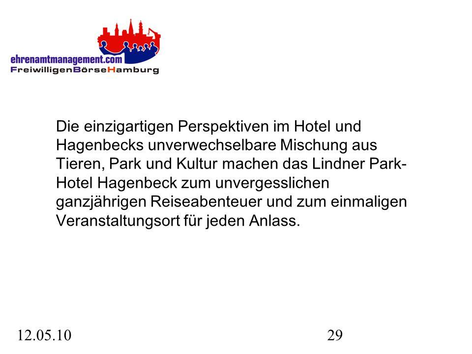 12.05.1029 Die einzigartigen Perspektiven im Hotel und Hagenbecks unverwechselbare Mischung aus Tieren, Park und Kultur machen das Lindner Park- Hotel Hagenbeck zum unvergesslichen ganzjährigen Reiseabenteuer und zum einmaligen Veranstaltungsort für jeden Anlass.