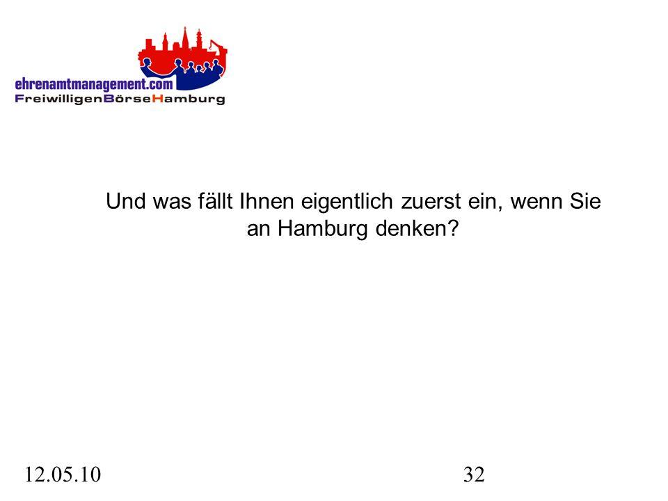 12.05.1032 Und was fällt Ihnen eigentlich zuerst ein, wenn Sie an Hamburg denken