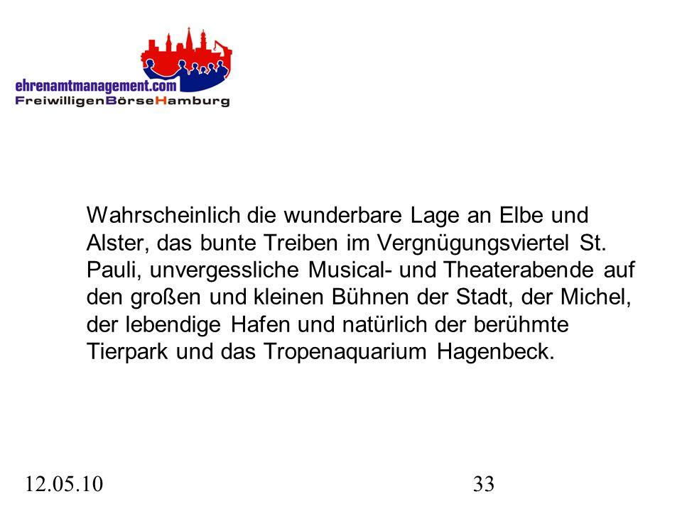 12.05.1033 Wahrscheinlich die wunderbare Lage an Elbe und Alster, das bunte Treiben im Vergnügungsviertel St.