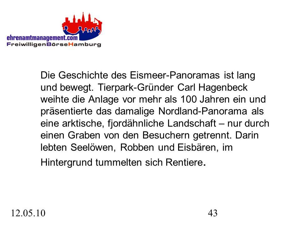 12.05.1043 Die Geschichte des Eismeer-Panoramas ist lang und bewegt.