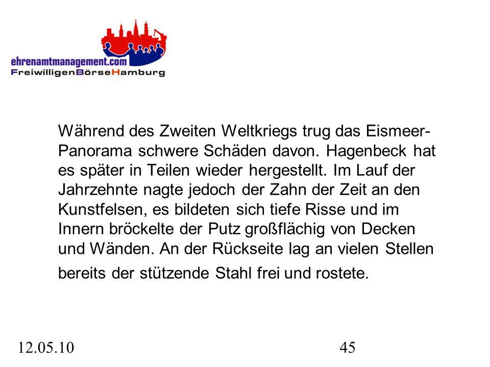 12.05.1045 Während des Zweiten Weltkriegs trug das Eismeer- Panorama schwere Schäden davon.