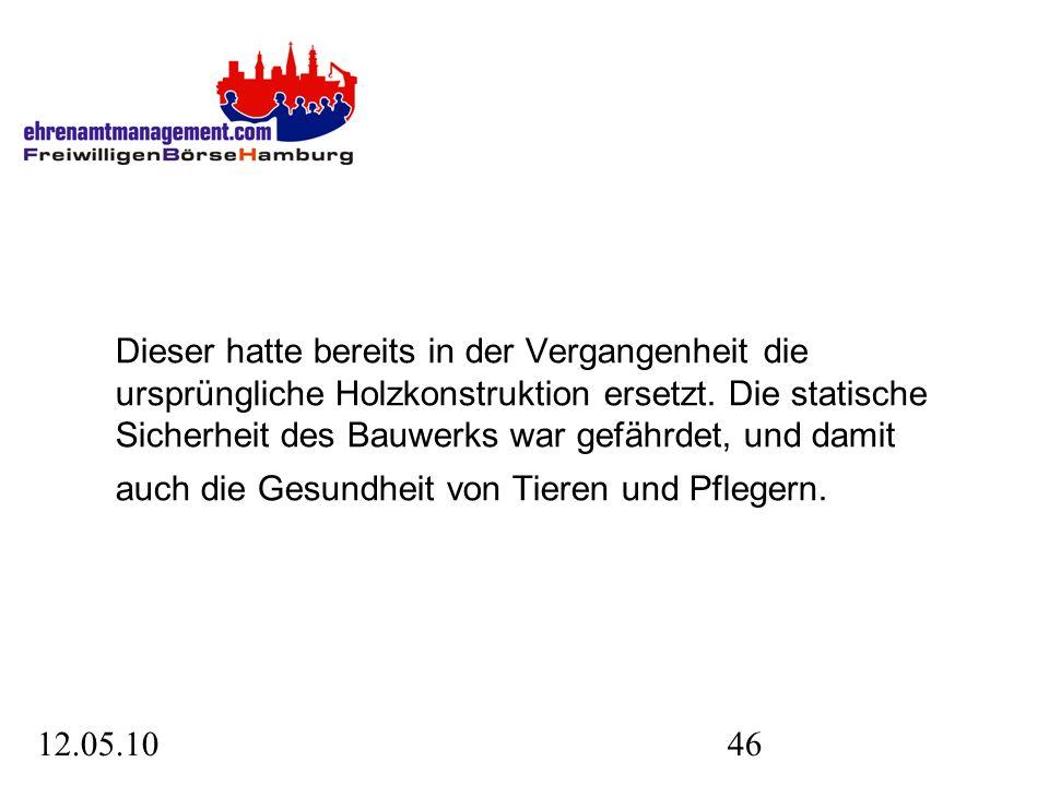 12.05.1046 Dieser hatte bereits in der Vergangenheit die ursprüngliche Holzkonstruktion ersetzt.